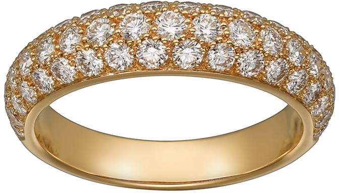 Yellow Gold and Diamond Étincelle de Ring