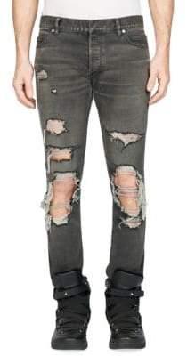 Balmain Washed Ripped Pants