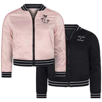 Ikks IKKSGirls Pink & Black Reversible Jacket