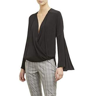 Kenneth Cole Women's Wrapped Front Flouncy Sleeve TOP