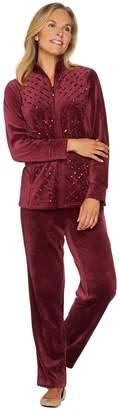 Factory Quacker Velour Sequin Jacket and Pant Set