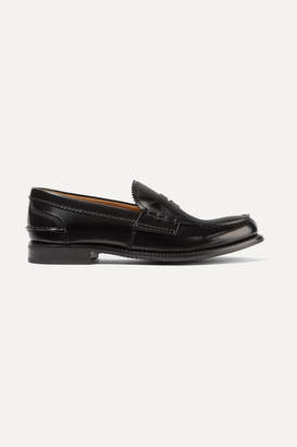Church's Pembrey Glossed-leather Loafers - Black