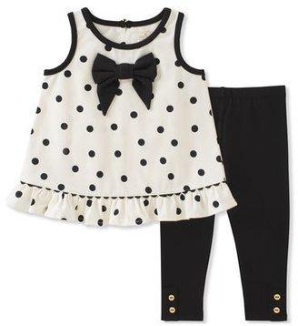 Kate Spade New York Polka Dot Bow Tank Top W/ Leggings, Size 12-24 Months $68 thestylecure.com