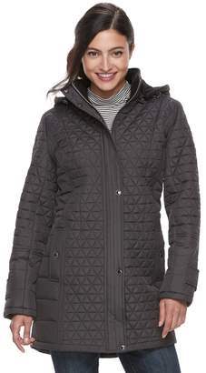KC Collections Women's Triangle Quilted Jacket