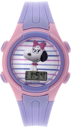 Disney Peanuts Snoopy Kids Purple Plastic Strap Digital Watch