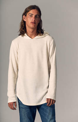 GUESS Pacsun Glace Hooded Long Sleeve Linen Scallop T-Shirt