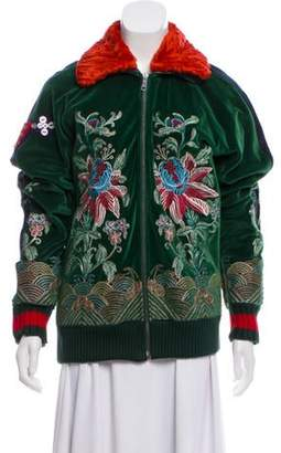 Gucci Embroidered Casual Jacket Green Embroidered Casual Jacket