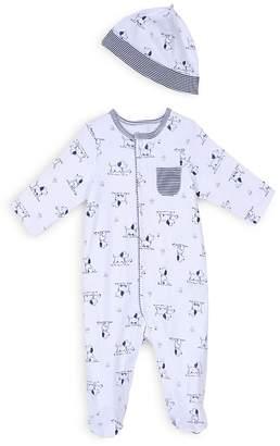Little Me Boys' Puppy Print Footie & Hat Set - Baby