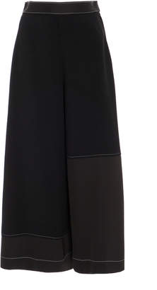 Loewe Pleated Crepe And Satin Trousers
