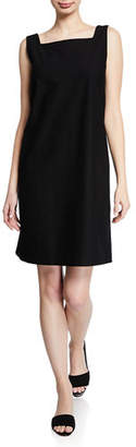 Eileen Fisher Sleeveless Square-Neck Stretch Crepe Dress