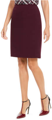 Calvin Klein Petite Soft Crepe Pencil Skirt