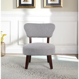 Nathaniel Home Round Seat Accent Chair, Gray