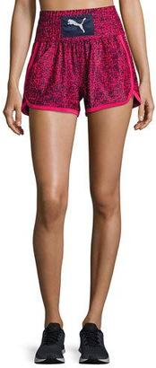 Puma Culture Surf Boxing Athletic Shorts, Blue/Pink $48 thestylecure.com
