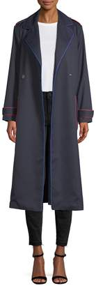 Armani Exchange Women's Contrast Notch Lapel Trench Coat