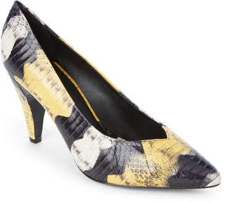 Sandro Audry Snake-Effect Pointed Toe Pumps