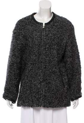 IRO Bouclé Collarless Coat