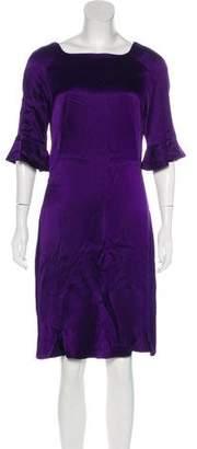 John Galliano Bateau-Neck Knee-Length Dress