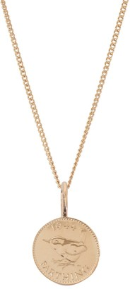 Katie Mullally English Farthing Coin Necklace