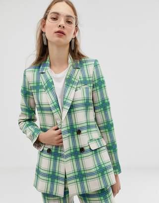 Asos Design DESIGN suit blazer in printed check