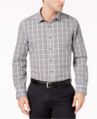 Bar III Men's Slim-Fit Stretch Easy-Care Dobby Gingham Dress Shirt, Created For Macy's