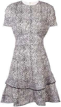 Derek Lam 10 Crosby Floral Print Silk-Blend Jacquard Dress