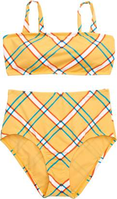 8926597354 Hobie Check Print Two-Piece Swimsuit