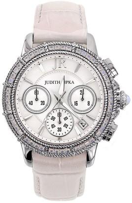 Judith Ripka Stainless Steel Diamonique Chronograph Watch