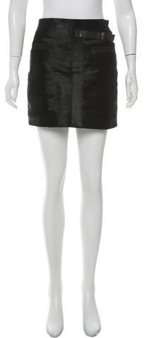 Helmut Lang Helmut Lang Fur Mini Skirt