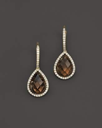 Bloomingdale's Smoky Quartz & Diamond Drop Earrings in 14K Yellow Gold - 100% Exclusive