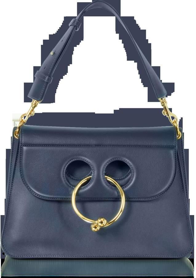 J.W.Anderson Navy Leather Medium Pierce Bag