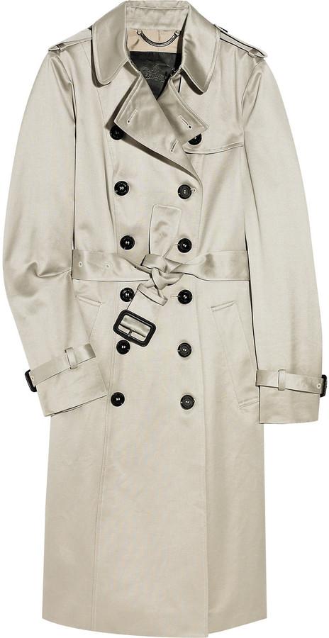 Burberry Prorsum Cotton-sateen trench coat