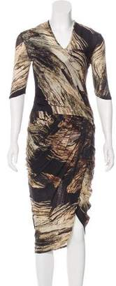 Helmut Lang Printed Midi Dress