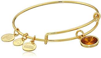 "Alex and Ani Bangle Bar"" December Imitation Birthstone Gold-Tone Expandable Bracelet"