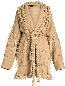 Alanui Women's Icon Fisherman Wool, Silk & Cashmere Cardigan