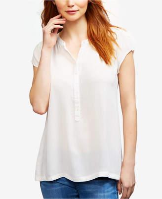 A Pea in the Pod Nursing Henley Shirt