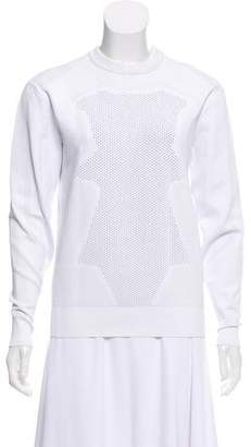 Alexander Wang Perforated Crew Neck Sweatshirt