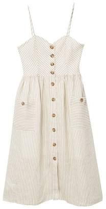 MANGO Pockets linen-blend dress