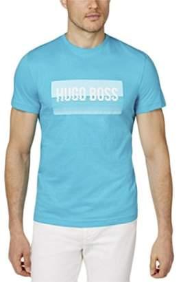 HUGO BOSS BOSS Green Men's Tee 1 Logo Print Crew T-Shirt