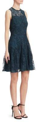 Elie Saab Sheer Lace A-Line Dress