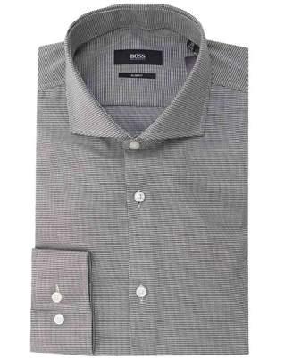 Boss Black Tailoring Jason Micro Diamond Slim Fit Shirt