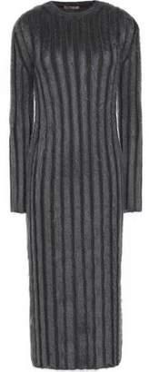 Nina Ricci Ribbed Wool-Blend Midi Dress