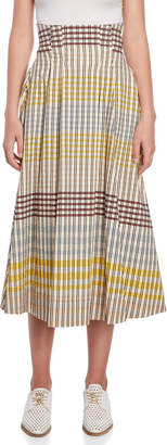Alysi Plaid A-Line Skirt