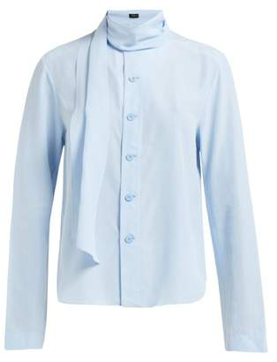 e408a506973202 Joseph Amine Silk Toile Blouse - Womens - Light Blue