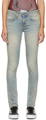 R 13 Blue Alison Skinny Jeans