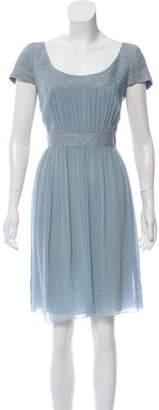 Akris Punto Short Sleeve Midi Dress