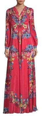 Etro Tropical Floral-Print Silk Dress