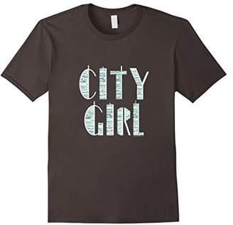 City Girl Downtown Urban Skyscraper New York Chicago T-Shirt