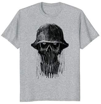 Skull Charcoal Drawing T-Shirt