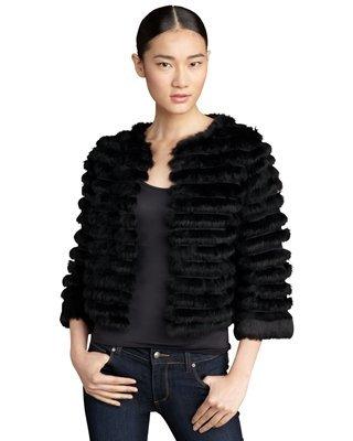 Alice + Olivia Honor Cropped Fur Jacket