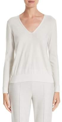 Akris Cashmere & Silk Blend Metallic Sweater